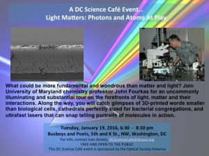 DC Science Cafe Light Matters